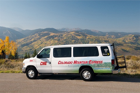 The company's four 15-passenger ROUSH CleanTech propane-autogas-powered Ford E-350 vans have been serving Vail resorts during the past year. (Photo: ROUSH CleanTech)