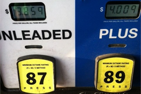 Photo of gasoline price in April of 2014 by Joe Thompson.