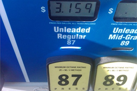 Photo of gasoline price in January of 2012 by Joe Thompson.