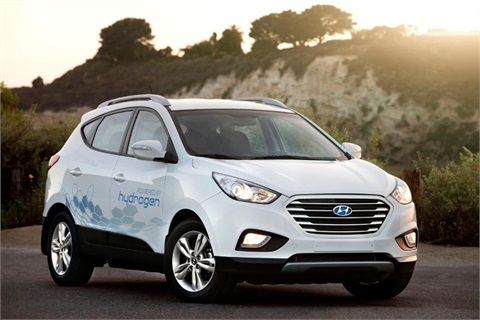 Hyundai's hydrogen powered SUV.Photo courtesy of Hyundai