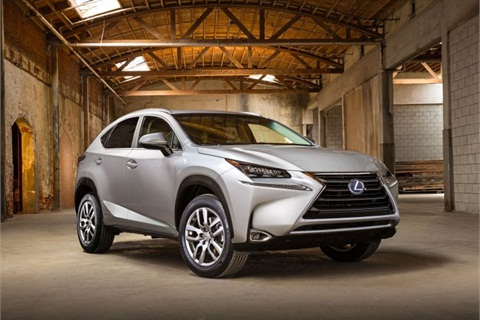 Photo of 2015 NX 300h courtesy of Lexus.