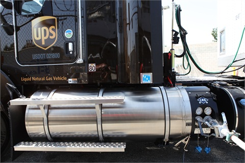 The additional fueling stations will help support UPS' fleet of 1,000 LNG tractors.