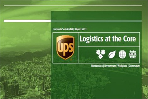 To access the new report, go to www.ups.com/sustainability