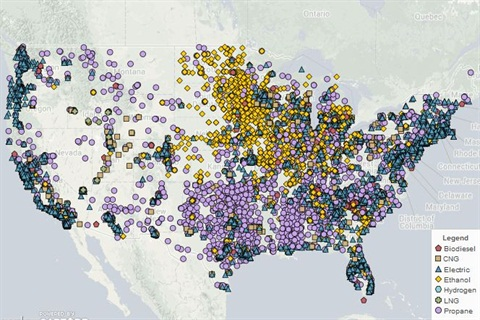 According to NREL, there are more than 15,000 alt fuel filling stations in the U.S. Photo courtesy National Renewable Energy Laboratory.