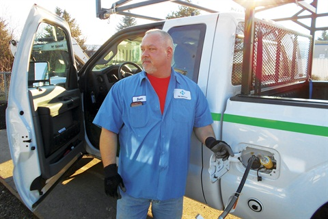 NW Natural will test new CNG tank technology from EnerG2 to see whether it's viable in real-world scenarios, particularly for fleet applications. Photo: NW Natural