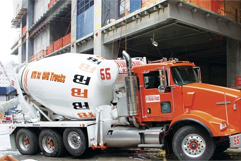 Queens-based Ferrara Brothers Building Materials employs a Kenworth T440 CNG truck equipped with the 8.9L Cummins Westport ISL engine to haul cement around New York City.