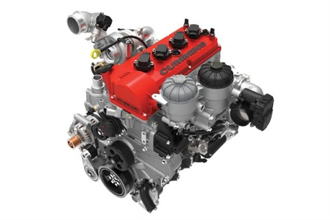 Cummins' new Ethos 2.8L E85-powered I-4. Photo courtesy of Cummins.
