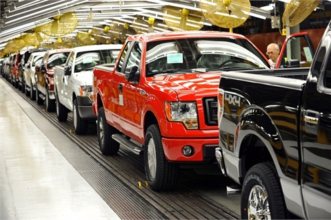 The first CNG-capable F-150 recently rolled off of Ford's assembly line in Kansas City.