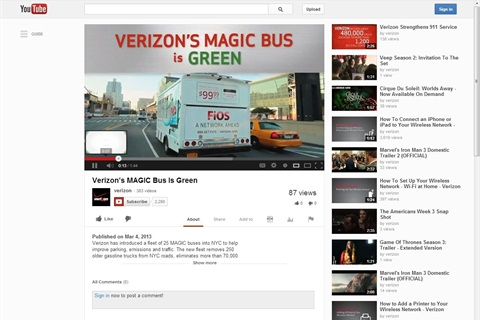 Video of Verizon's MAGIC bus is available on YouTube.